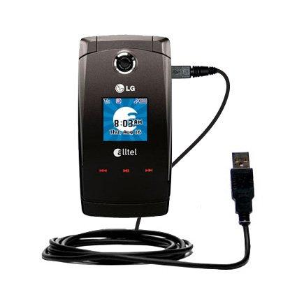 Klassisches Direkt-USB-Kabel für LG Wave AX380 mit Power Hot-Sync und Ladekapazitäten Verwendet die TipExchange Technologie