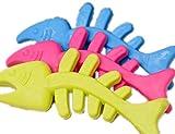 Fully 3X Haustier Welpen Kauknochen Hunde Katze Spielzeug Zerrspielzeug Kauspielzeug Zahnreinigung Sauber TPR (Farbe zufällig) (Fisch)