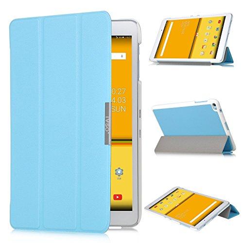 HuaWei MediaPad T2 10 Pro Hülle - IVSO Ultra Schlank Superleicht Ständer Slim Leder zubehör Schutzhülle für Huawei MediaPad T2 10.0 Pro 24,6 cm Tablet-PC perfekt geeignet, Blau
