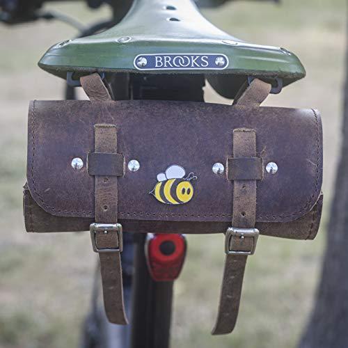 London manuels Cuir Selle de vélo Outil Sac Funny Bee Édition limitée