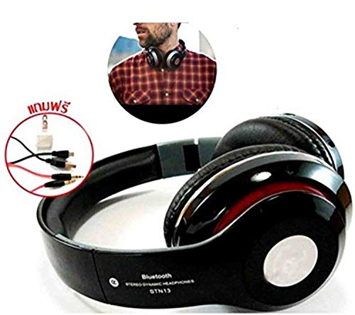GKP PRODUCTS HD Bluetooth Headphone Wireless Over Ear Headset Earphone with Built-in FM Radio Mic Micro SD Card Slot Volume Control Compatible with Apple Samsung OnePlus Moto Xiaomi Lenovo Oppo ViVo Mobiles , iPad , Laptops , Smart TVs and More Model 143004