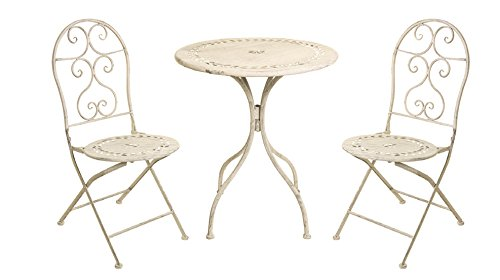 Ferro battuto - Set tavolo e 2 sedie