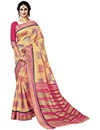 Ruchika Fashion Women's Kanjivaram Silk Saree With Blouse Piece Material (Multicolor)