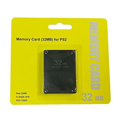 Teepao PS2Speicherkarte High Speed C 32MB 128MB 256MB Spiel Storage Card für Spiel Speichert und Informationen 32mb