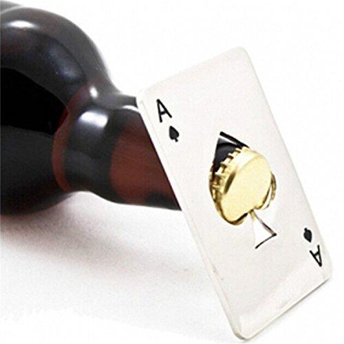 Creative Poker Karte Bier Flaschenöffner Personalisierte Funny Edelstahl 11in 1Multifunktions Kreditkarte Dosenöffner Bar Werkzeug (Raum Dosenöffner)