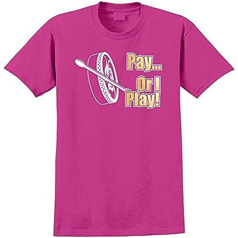 Bodhran Pay or I Play - Musica T Shirt 13 Taglia 5 Anni - 6XL 9 Colori MusicaliTee