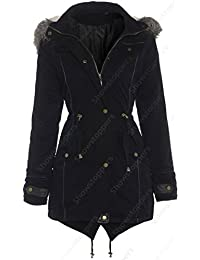 Girls OVERSIZED HOOD Parka Coat, Black, Ages 7 to 13