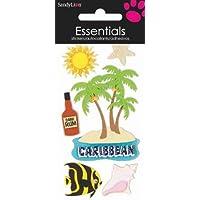 Sabbia ylion 6Caribbean Essentials adesivo sole palme stella