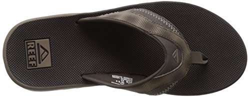 Reef Fanning Prints, Flip-flop homme Marron (Brown Plaid)