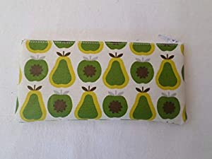 Handmade Oilcloth Tampon Case Holder - Apples & Pears Fabric