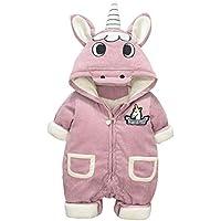 Bébé Combinaison Hiver Barboteuses Polaire Grenouillère Licorne Pyjamas 479df2367a1