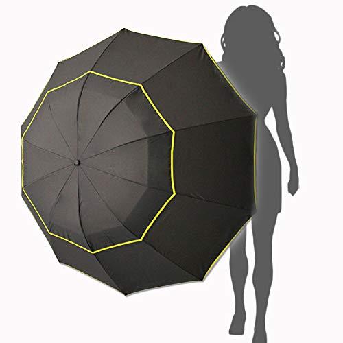 Paraguas para golf de 62Inch, resistente al viento, doble cubierta con ventilación, extra grande, negro - Kalolary