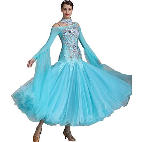 Herrliche Damen Modern Dance Wettbewerb Kleid, Großer Schaukel Tango Foxtrott Ballsaal Kleider Glänzend Nationale Standard Tanzkostüme mit (Irischen Tänzerin Kostüme)