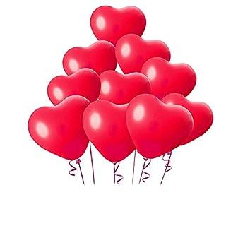 Aixin 100 Pcs Heart-shaped Latex Balloons a Pump Birthday Party Wedding Festival Celebrations Decorations (Heart-shaped-100pcs)