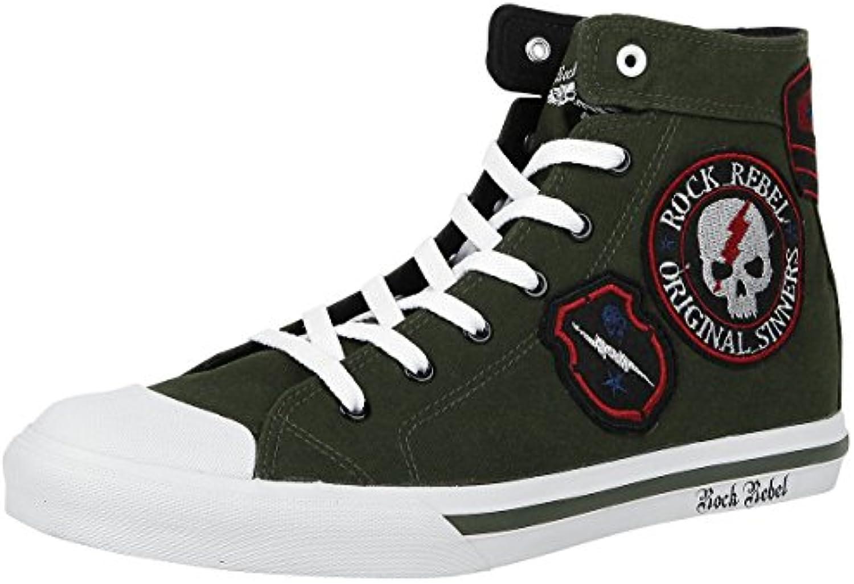 Rock Rebel by EMP Walk The Line Sneaker Oliv