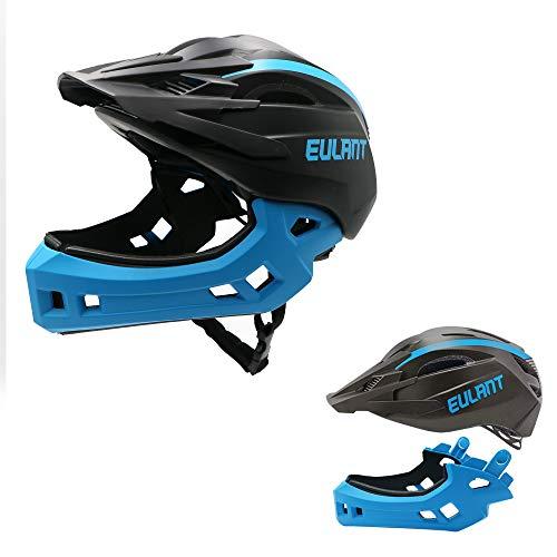 EULANT Aktualisierter Fullface-Helm für Kinder, Kinderhelm mit Kinnschutz, Fahrradhelm für Mädchen und Jungen im Alter von 2-10 Jahren, passt Kopfgröße...