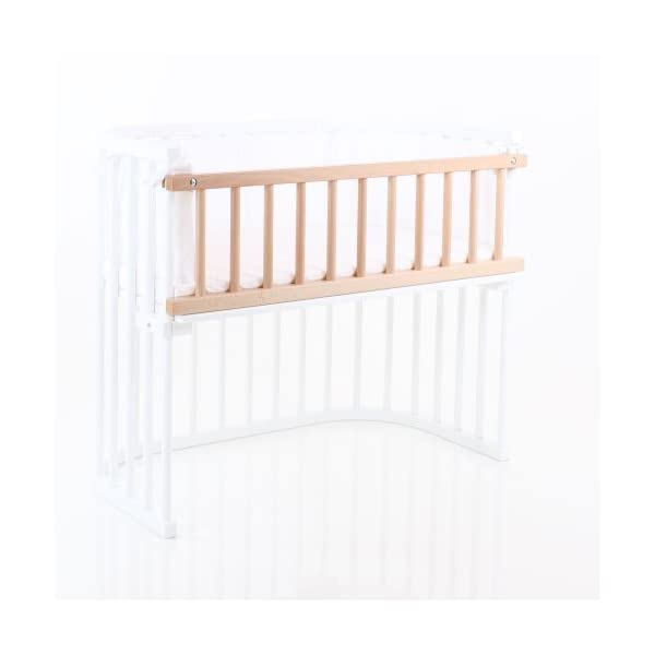 Babybay Guardrail for Maxi/Boxspring, Natural Varnished babybay Made of solid wood Comes with the locking clip Fit for maxi and boxspring co-sleeper cot 2