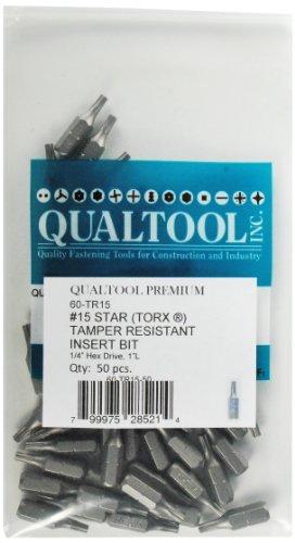 qualtool Premium 60-tr15-50Star T15Tamper Resistant Einsatz-Bit, Amtsheftung -