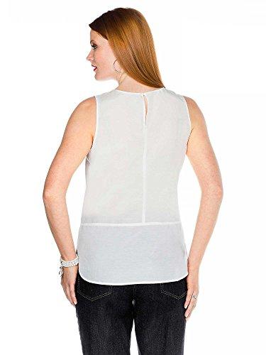 sheego Class Femmes Top blouse Grande taille nouvelle collection Blanc Cassé