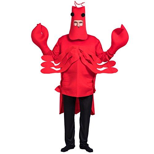 EraSpooky Herren Hummer Kostüm für Karneval Halloween Fasching Overall Hut und Klauen