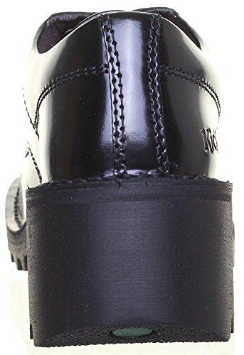 Kickers Kopey Lo-bottes en cuir mat Noir - noir