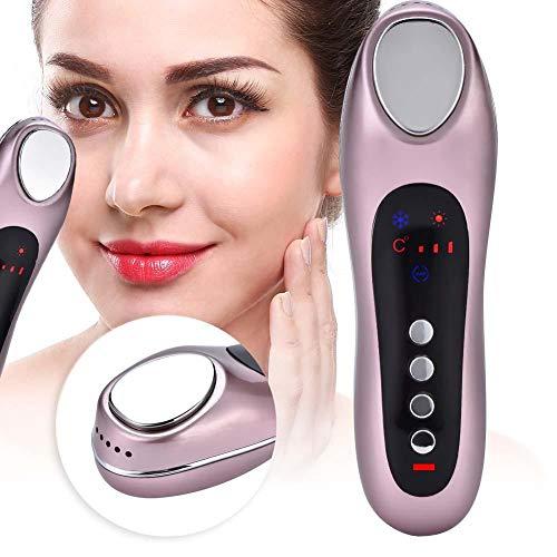 Macchina per la bellezza del viso, macchina di ringiovanimento della pelle, strumento di bellezza per massaggi facciali, usato per riparare profondamente la pelle(oro rosa)