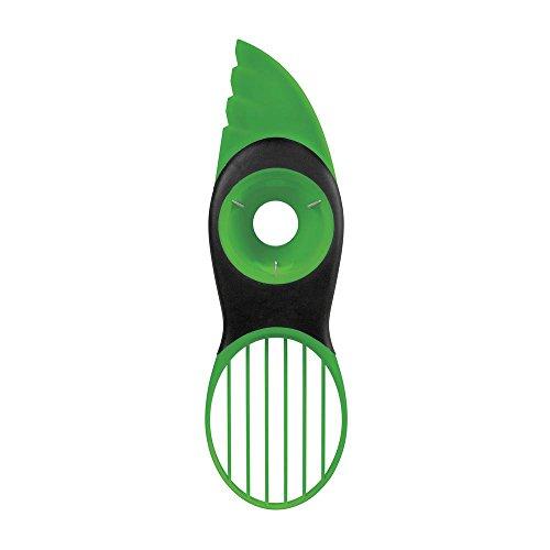 Oxo 1252180MLNYK Trancheuse D'Avocat 3 en 1 Acier Inoxydable/Plastique Vert 2,54 x 10,54 x 26,67 cm