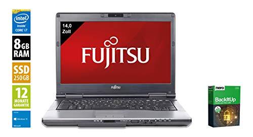 Fujitsu LifeBook S782 | Notebook | Laptop | 14,0 Zoll (1366x768) | Intel Core i7-3540M @ 3.0 GHz | 8GB DDR3 RAM | 250GB SSD | DVD-Brenner | Webcam | Windows 10 Home (Zertifiziert und Generalüberholt)
