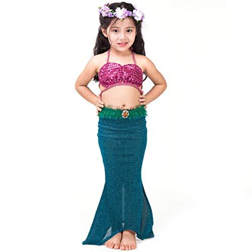 Kinder Fancy Beachwear Meerjungfrau Schwanz Kostüm Badeanzug für Mädchen Kinder Bademode Cosplay Kostüm für Schwimmen Bikini Kinder Kleidung