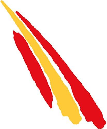 Pegatina Bandera Trazo2 España 110x30 mm.