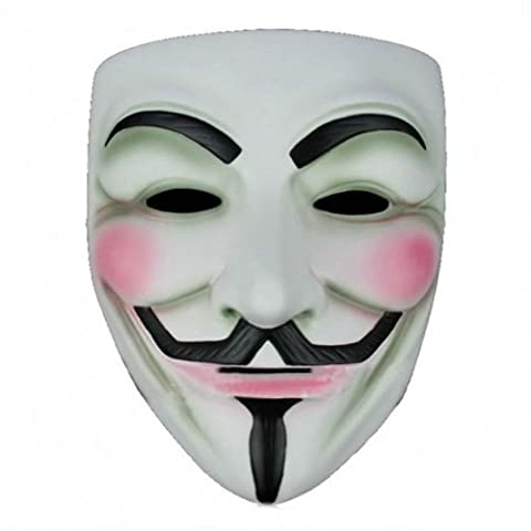 Anonymous - V for Vendetta - Guy Fawkes Maske (Anonymous Hacker Kostüm)