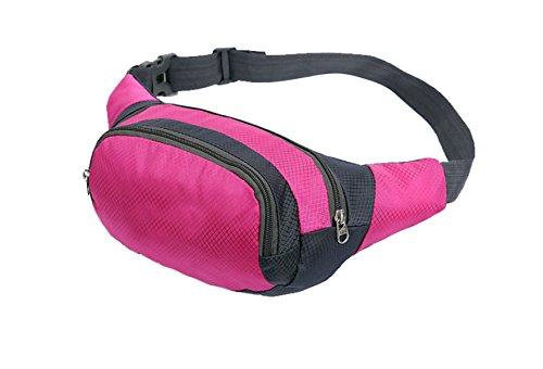 Multifunktionale Outdoor Fitness Sporttaschen Mehrfarbig RoseRed