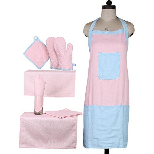 Linenwalas-Premium-Cotton-hopsack-8-Piece-Apron-Set