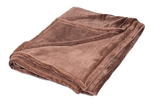 BirdRock Home Plush Throw Blanket   Soft Fabric   Easy