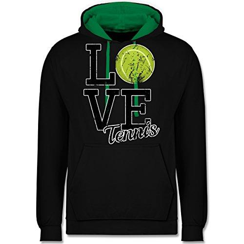 Tennis - Love Tennis - Kontrast Hoodie Schwarz/Grün
