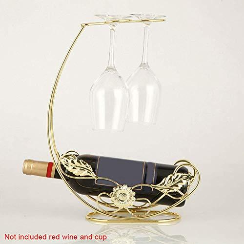 QPllRZZ Weinregal Tisch Europäischen Stil Metall Eisen bar Aufbewahrung Ständer Küche Klammer Dekoration Glas Home Display (Bronze) - Gold, Free Size - Eisen-tisch-ständer