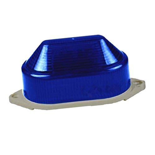 Dolity 1 Stück Warnblinkleuchten Warnleuchte Warnfahnen LED-Licht Blinklicht perfekt für Nebel, regnerisches Klima, Schneeig Windig (Blau)