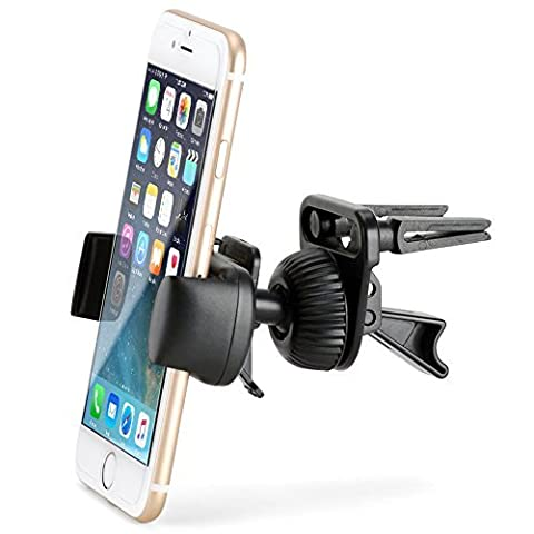 Car Mount, iKross Universal Air Vent Phone Mount Holder Cradle for iPhone, Samsung, LG, Motorola, (Deluxe Imbottito Basso)