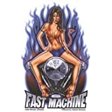 """Michael Landefeld - Fast Machine Devil-Girl Pinup PIN-UP autocollant Sticker - 3.5"""" x 5"""" - Weather Resistant, Long Lasting for Any Surface"""
