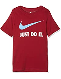 Nike JDI Swoosh Camiseta, Infantil, Red Crush/(University Blue), Extra-Large