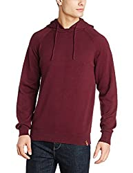 Peter England Mens Cotton Sweater (ESW51708036_DarkBlueWithRed_Medium)