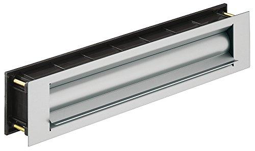 Briefeinwurf-Klappe wärmegedämmt Zeitungsklappe für Haustüren & Wohnungseingangstüren   Einwurfklappe Aluminium Edelstahl-Optik   MADE IN GERMANY   Baubeschläge von GedoTec®