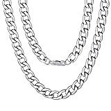 ChainsPro Panzerkette Silber 925 Kette Herren Halskette Frauen Schmuck Damenkette Kettenanhänger Geschenke Freund Gravur Rapper Weihnachten