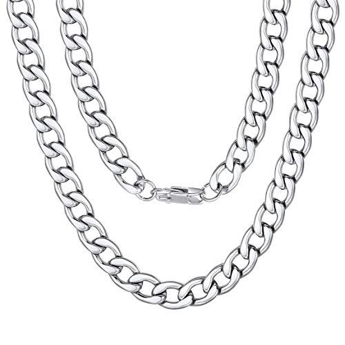 ng Silber Hohl Seil Kette Halskette Schmuck Männer, 9mm, 66cm ()