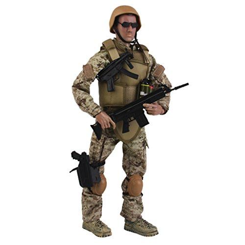 1/6 Militärischen Armee-Kampf-Wüste Acu Soldat Action-Figur-Modell Spielzeug