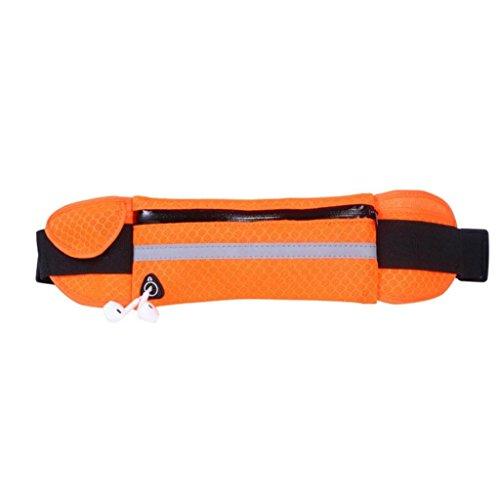 Orange : Livecity Unisex Waterproof Outdoors Running Sport Cellphone Reflective Waist Pack Bag