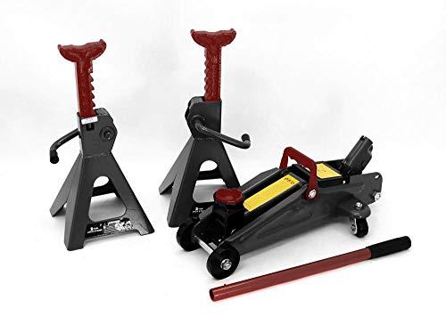 Generic TY hydraulique Tonne Heavy Duty Duty Hydra Sol Jack Chariot FL Axle Support Oor Jack Chariot hydraulique de Levage Noir de Voiture de Noir