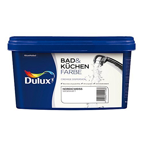 AKZO NOBEL (DIY DULUX) 5087520 Bad- & Küchenfarbe matt, Nordicweiss