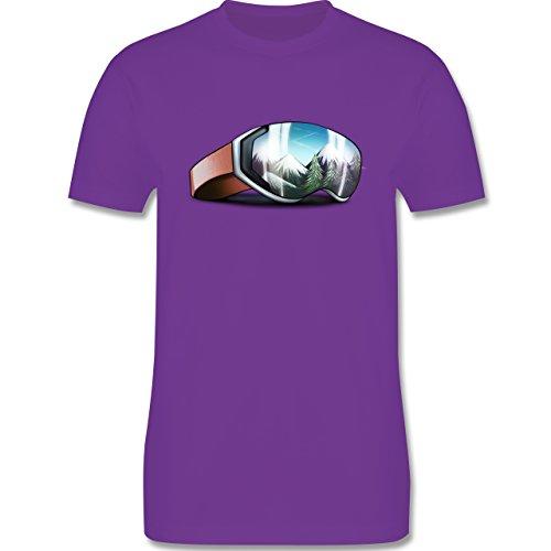 Wintersport - Skibrille - Herren Premium T-Shirt Lila