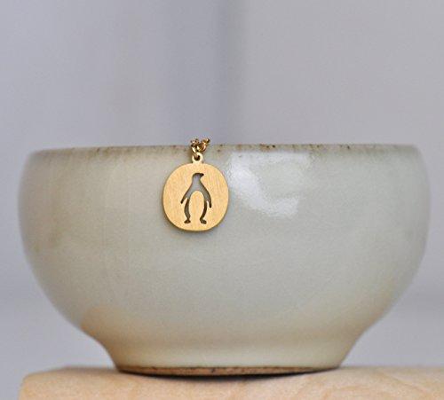 Aoloshow Collier et boucles d'oreilles Pour filles Amitié En acier inoxydable Penguin Necklace - Gold